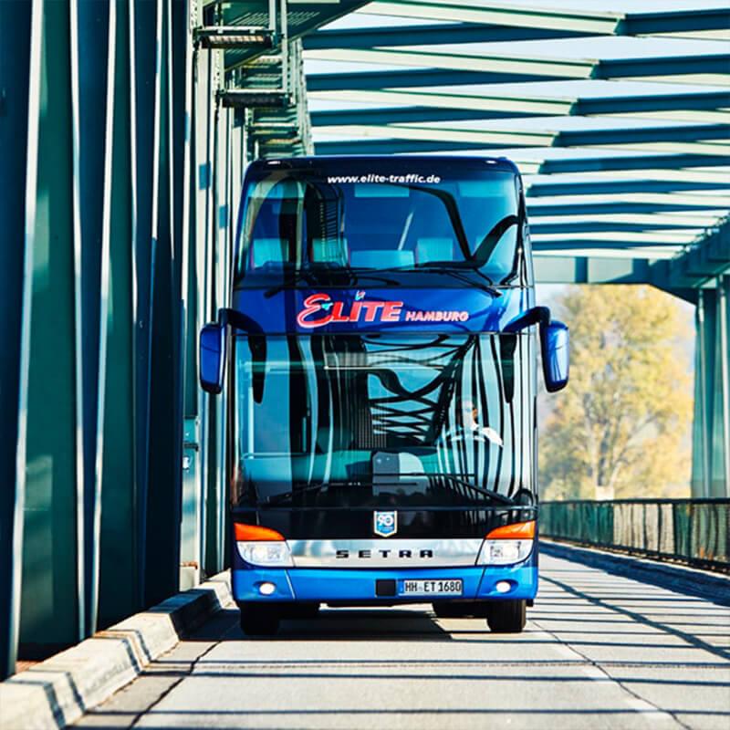 Mein Bergedorf Elite Traffic Galeriebild Vorderansicht Bus